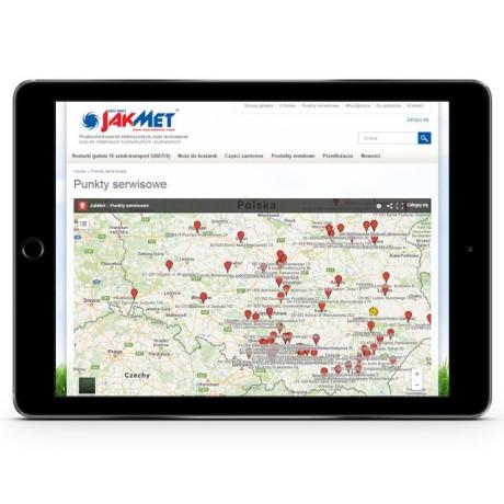 Rozwiązanie e-commerce widoczne na tablecie