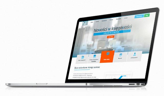 Strona www JMJ na laptopie
