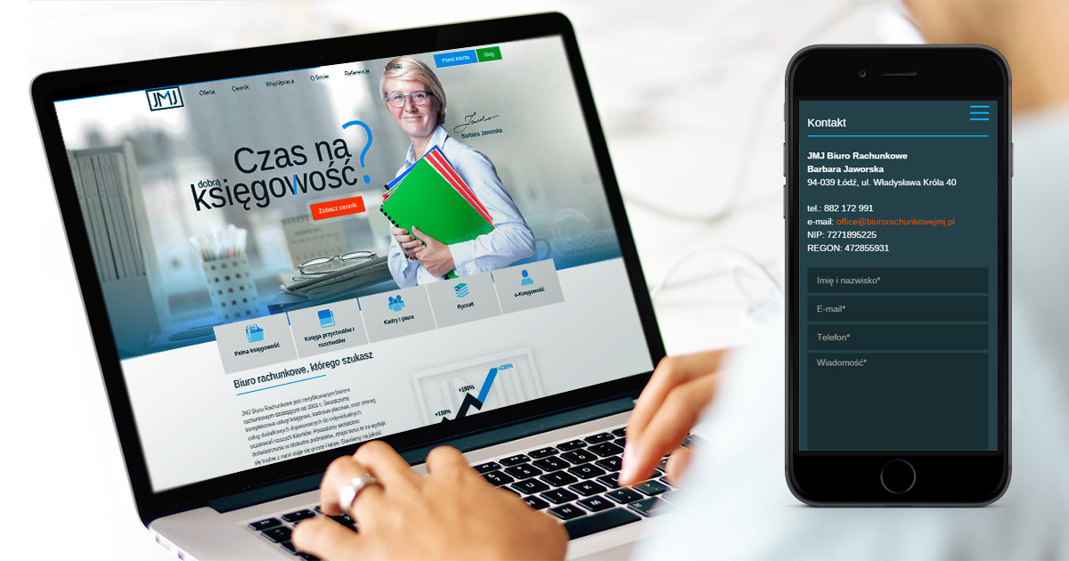 Srona internetowa dla JMJ Biuro Rachunkowe