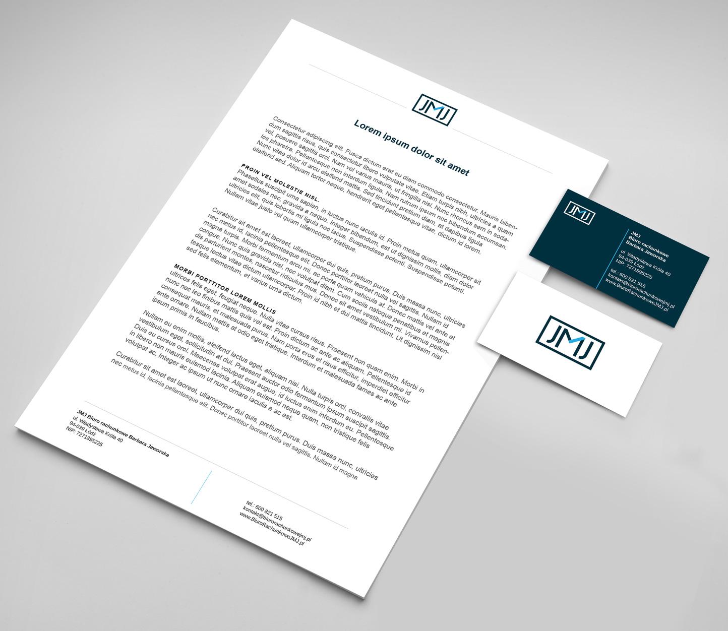Papier firmowy i wizytówka - JMJ