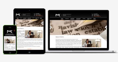 Responsywna strona internetowa dla kancelarii