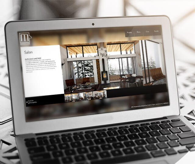morphina - strona www na macbooku