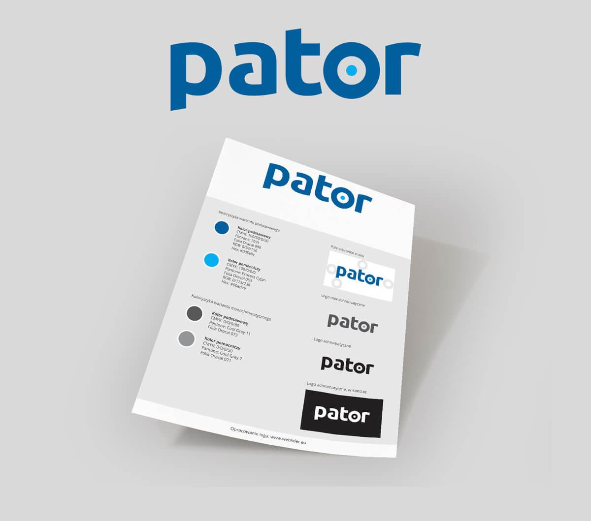 Pator - projekt logo i identyfikacji wizualnej