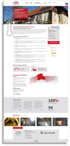 Projekt strony głównej dla firmy Purekspert