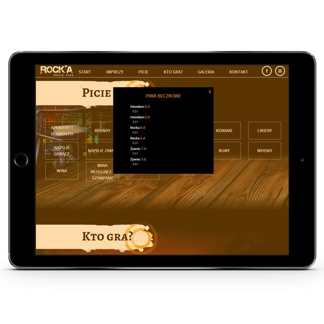 Strona www na iPadzie