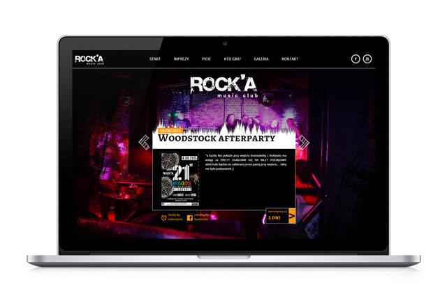 Strona internetowa na kmputerze - Rocka Club