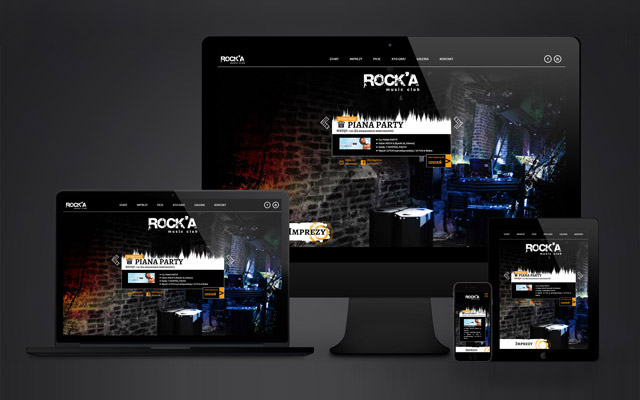 Rock'a Music Club - strona internetowa dla klubu muzycznego