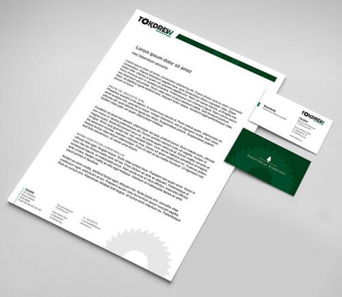 Tokdrew - papier firmowy i logo