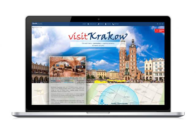 Strona internetowawy świetlona na komputerze - Visit Krakow