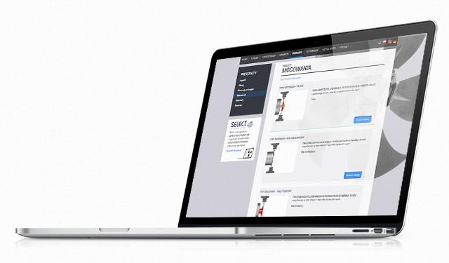 Strona www na laptopie