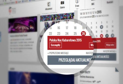 Zbliżenie na detal strony internetowej