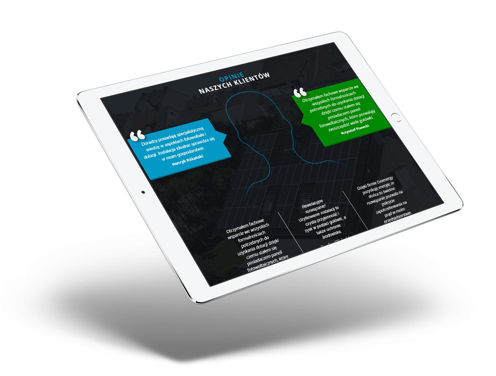 strona www na tablecie iPad