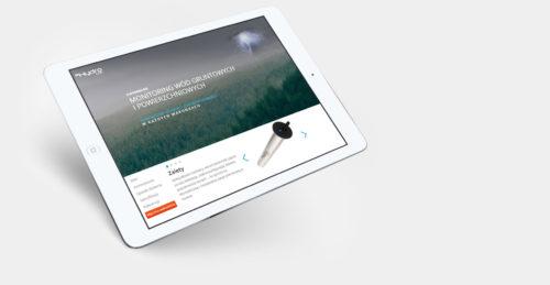 Dynamiczna strona www dla produktu eHydroLog firmy Technika IT