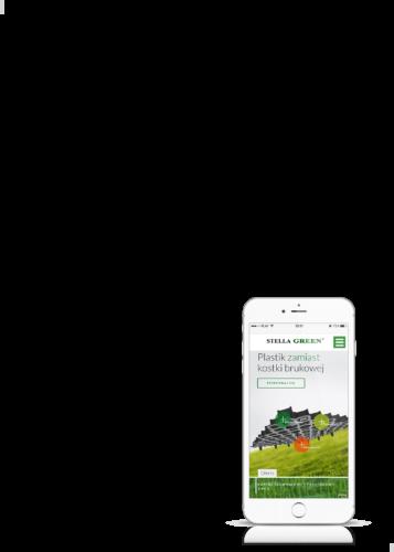 projekt strony internetowej Stella Green na telefonie