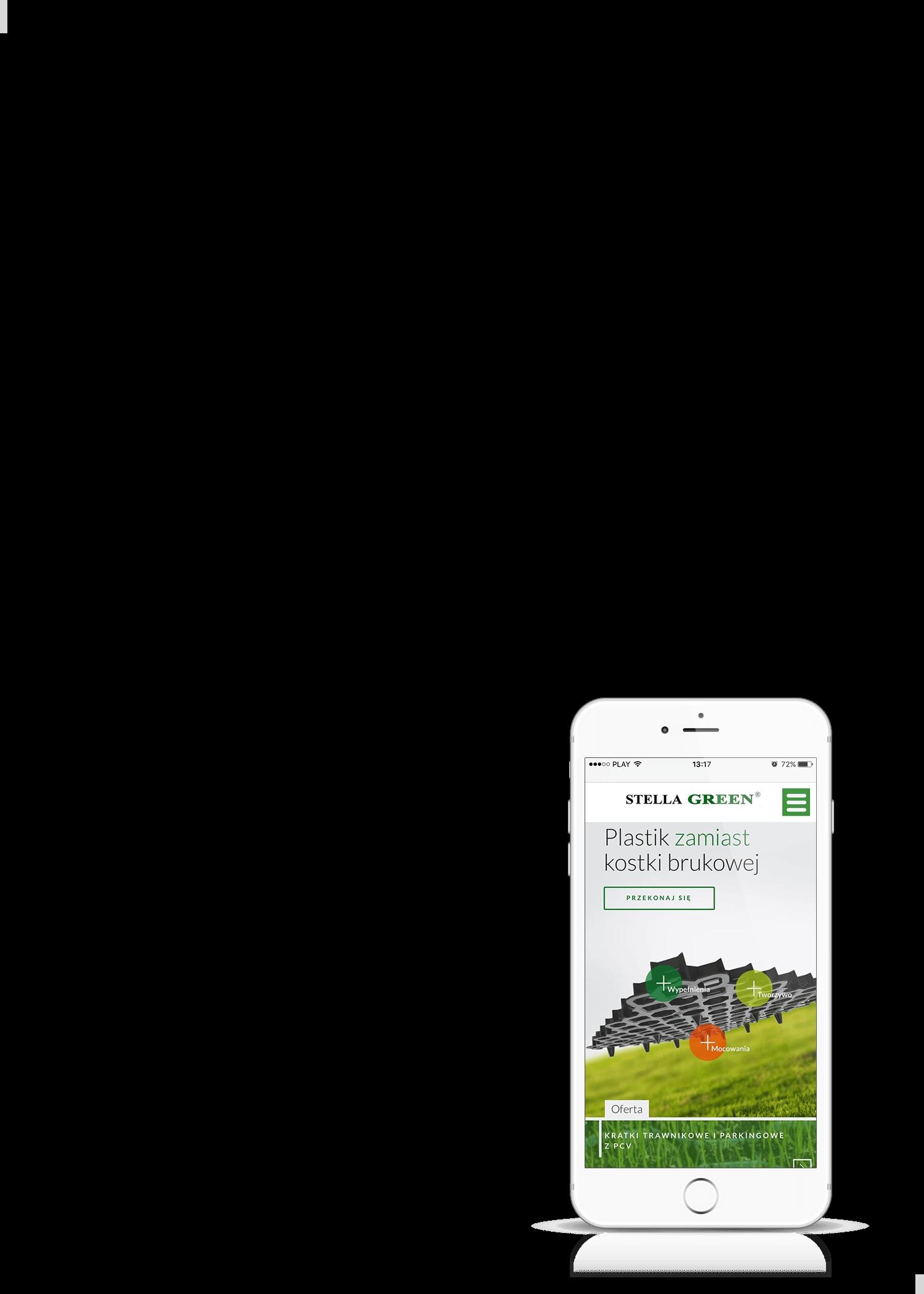 Projekt strony internetowej Stella Green na smartphonie