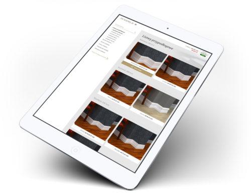 Stolarnia24 - sklep internetowy na tablecie
