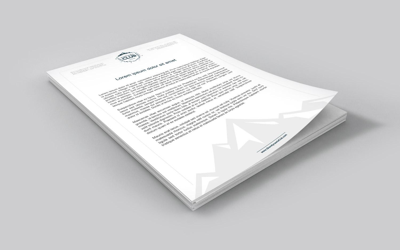 Skandynawia Club - projekt papieru firmowego