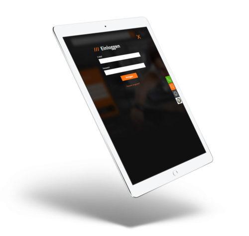 Qparts24.de - widok logowania do sklepu internetowego - projekt e-commerce