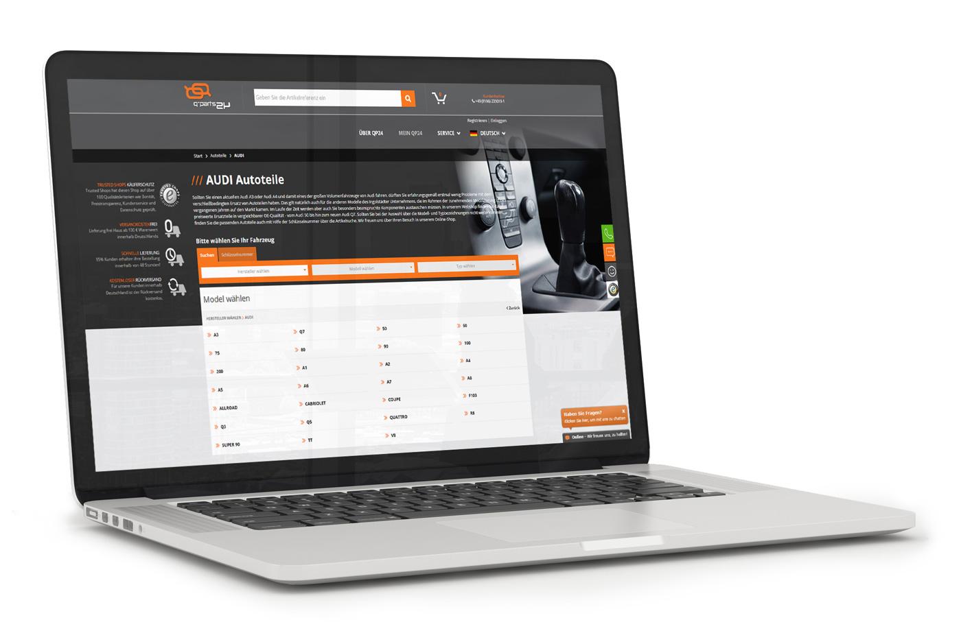 Qparts24 - widok listy produktów w sklepie internetowym