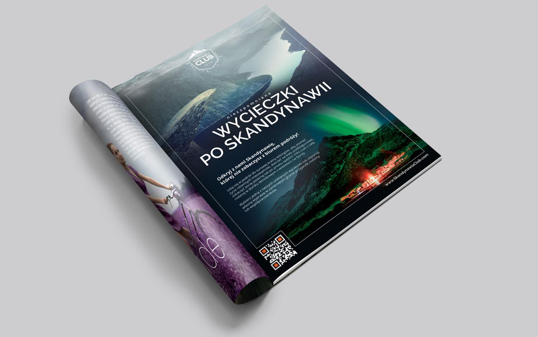 Skandynawia Club - projekt - reklama całostronicowa do czasopisma