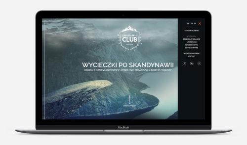 Mockup strony internetowej Skandynawia Club