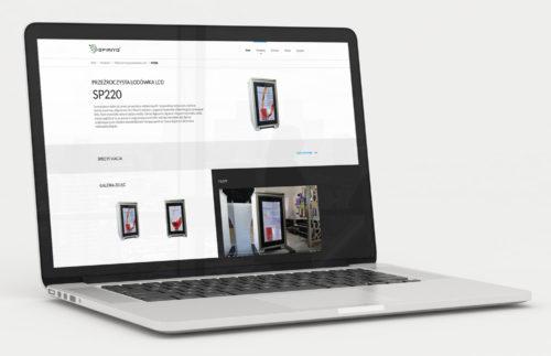 Strona www - projekt strony głównej Spiriyo na komputerze w przeglądarce desktopowej