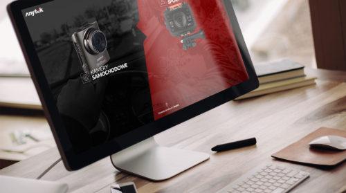 Anytek - nowoczesna strona internetowa produktowa - kamery samochodowe, wideorejestratory, elektronika