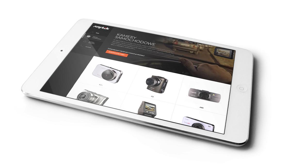 Anytek - strona internetowa na urządzeniu mobilnym - tablecie