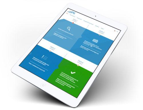 JPK strona internetowa na tablecie