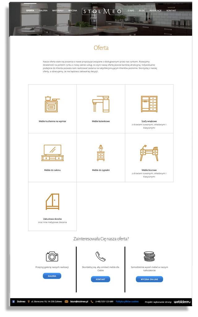 Stolmeo - projekt nowoczesnej strony firmowej