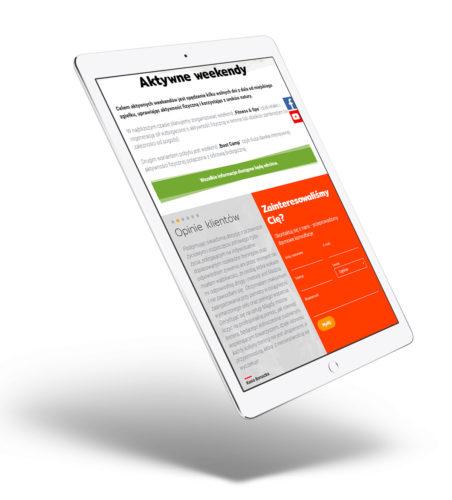 Napędzamy do zmiany - projekt strony na tablecie