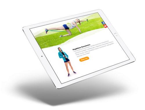 Napędzamy do zmiany - wizualizacja nowej strony www dla trenerów personalnych z Gliwic, coaching