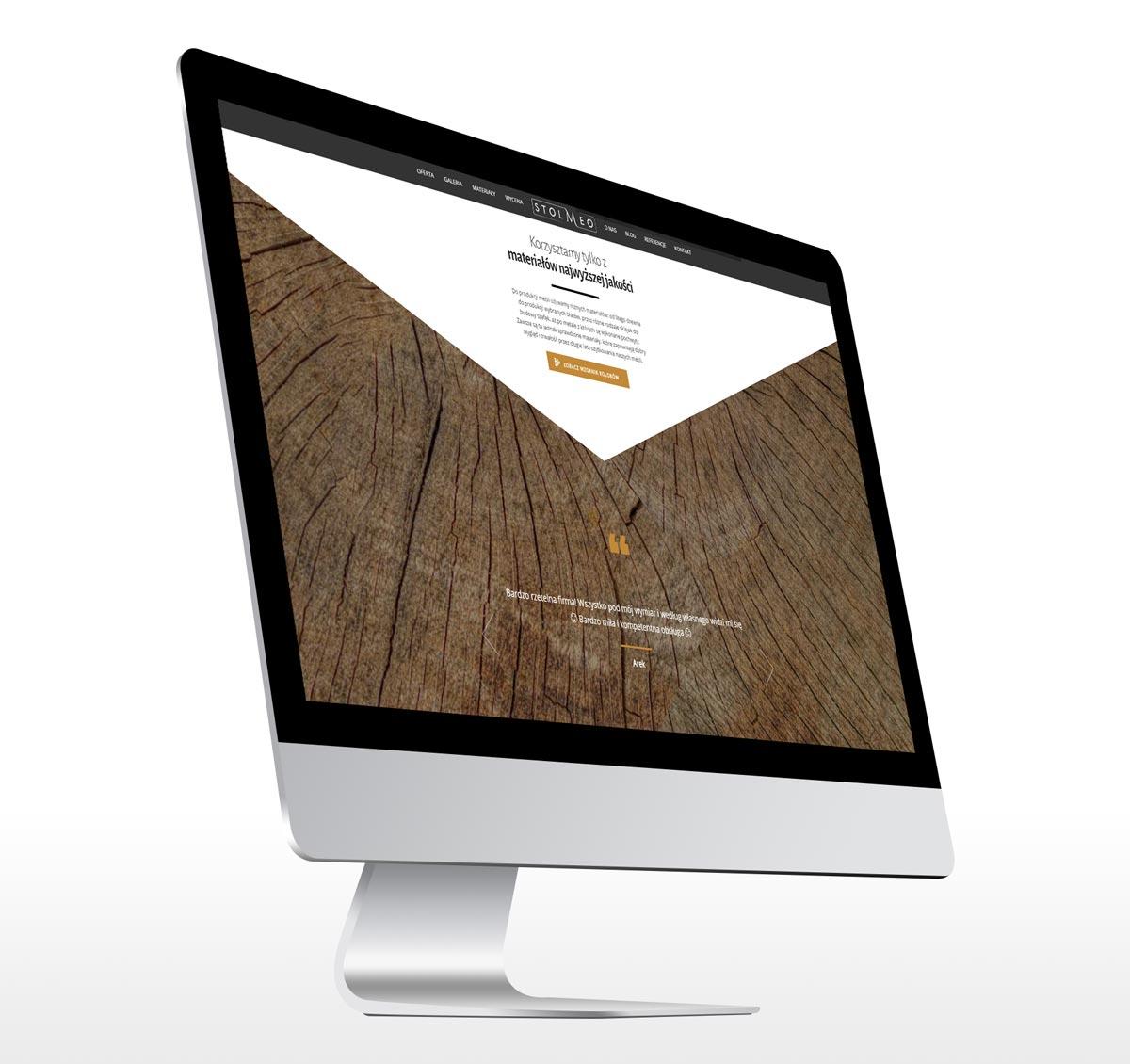 Stolmeo - animowana strona internetowa longpage
