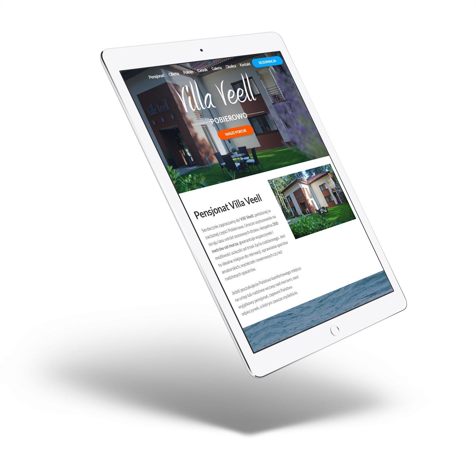 Villa Veell - strona internetowa, pensjonat Pobierowo