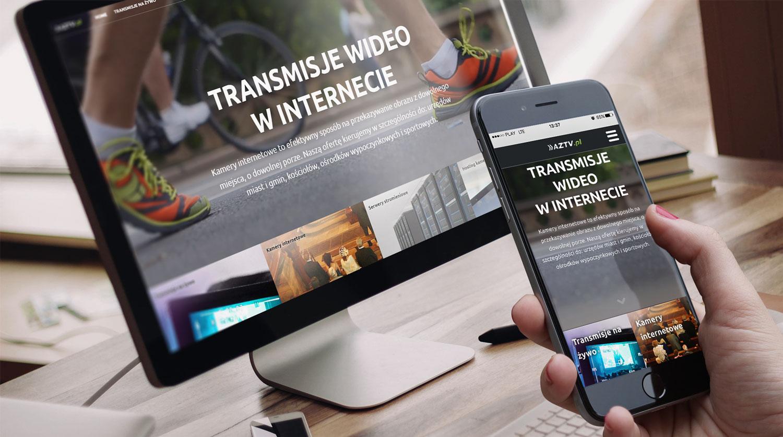 Wizualizacja responsywnej strony internetowej z transmisjami z kamer internetowych