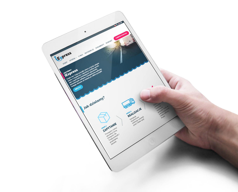 iExpress - strona internetowa na tablecie