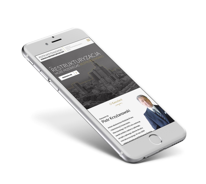 Doradca Restrukturyzacyjny - stronan internetowa działająca na telefonie