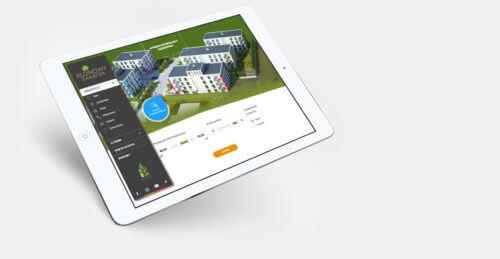 Albero Invest - projekt strony internetowej osiedla mieszkaniowego Klonowy Zakątek