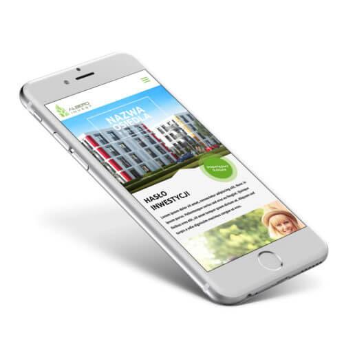 Albero Invest - Klonowy Zakątek - wizualizacja strony www na tablet