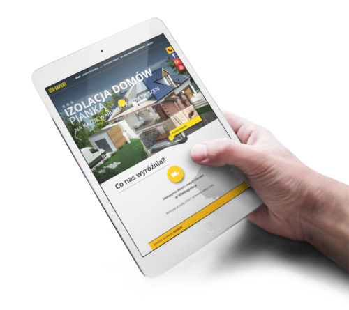 Projektowanie stron internetowych - nowa strona www dla IZO-EXPERT