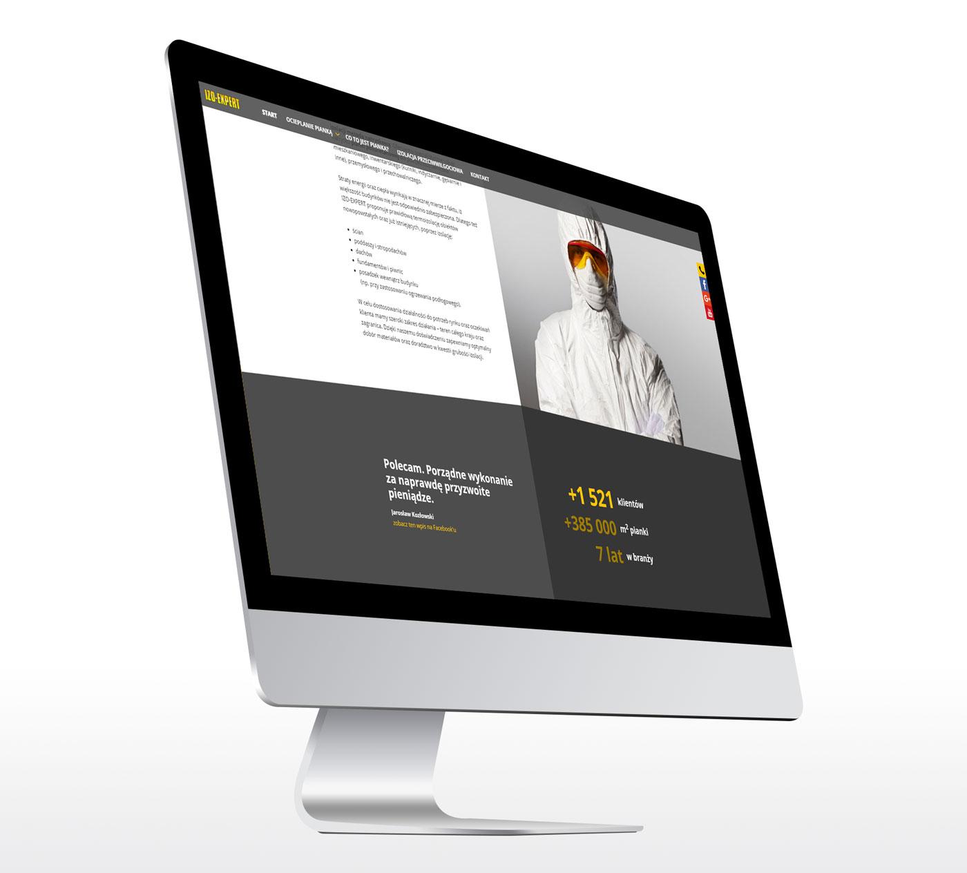 IZO-EXPERT - strona www - projekt