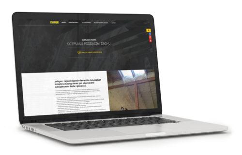 Projekt podstrony dla IZOEXPERT