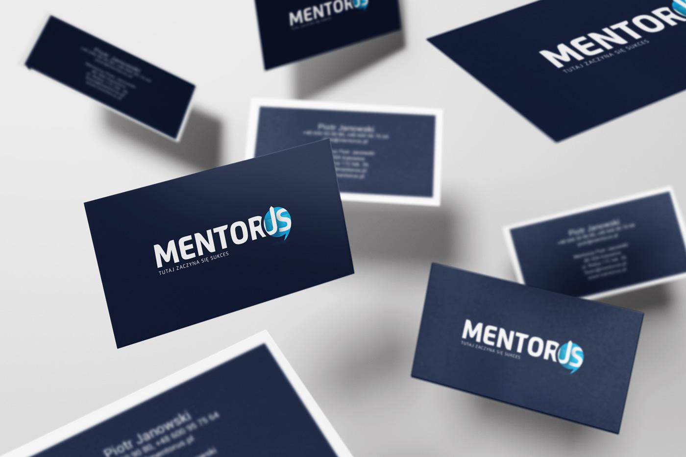 Mentorus - wizualizacja projektu wizytówek