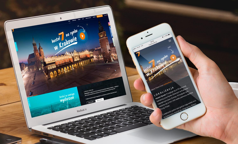 Strona internetowa Hostel Rynek 7 Kraków