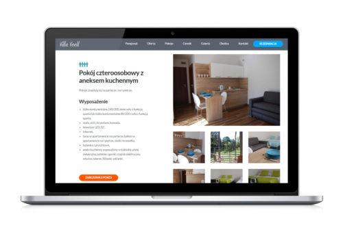 Villa Veell - projekt strony internetowej