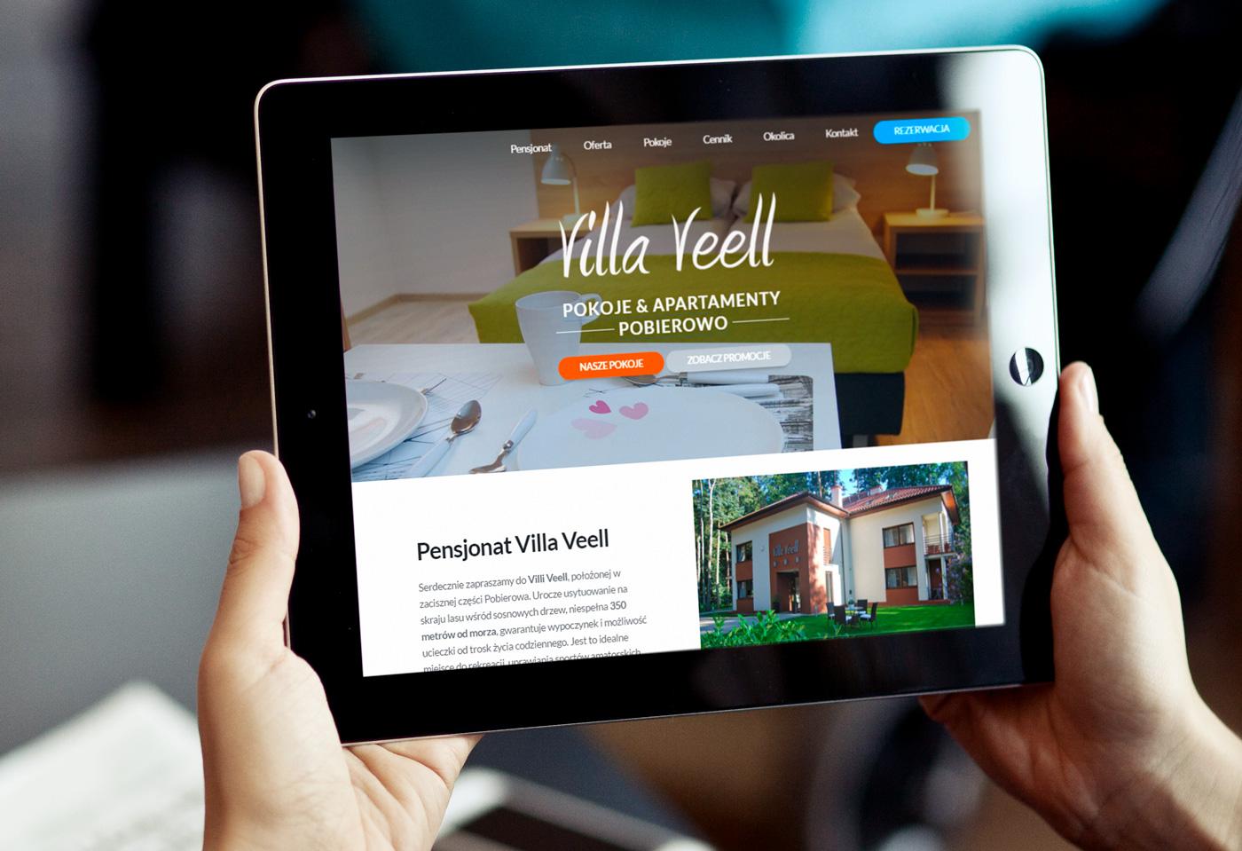 villa veell - strona internetowa pensjonat turystyka