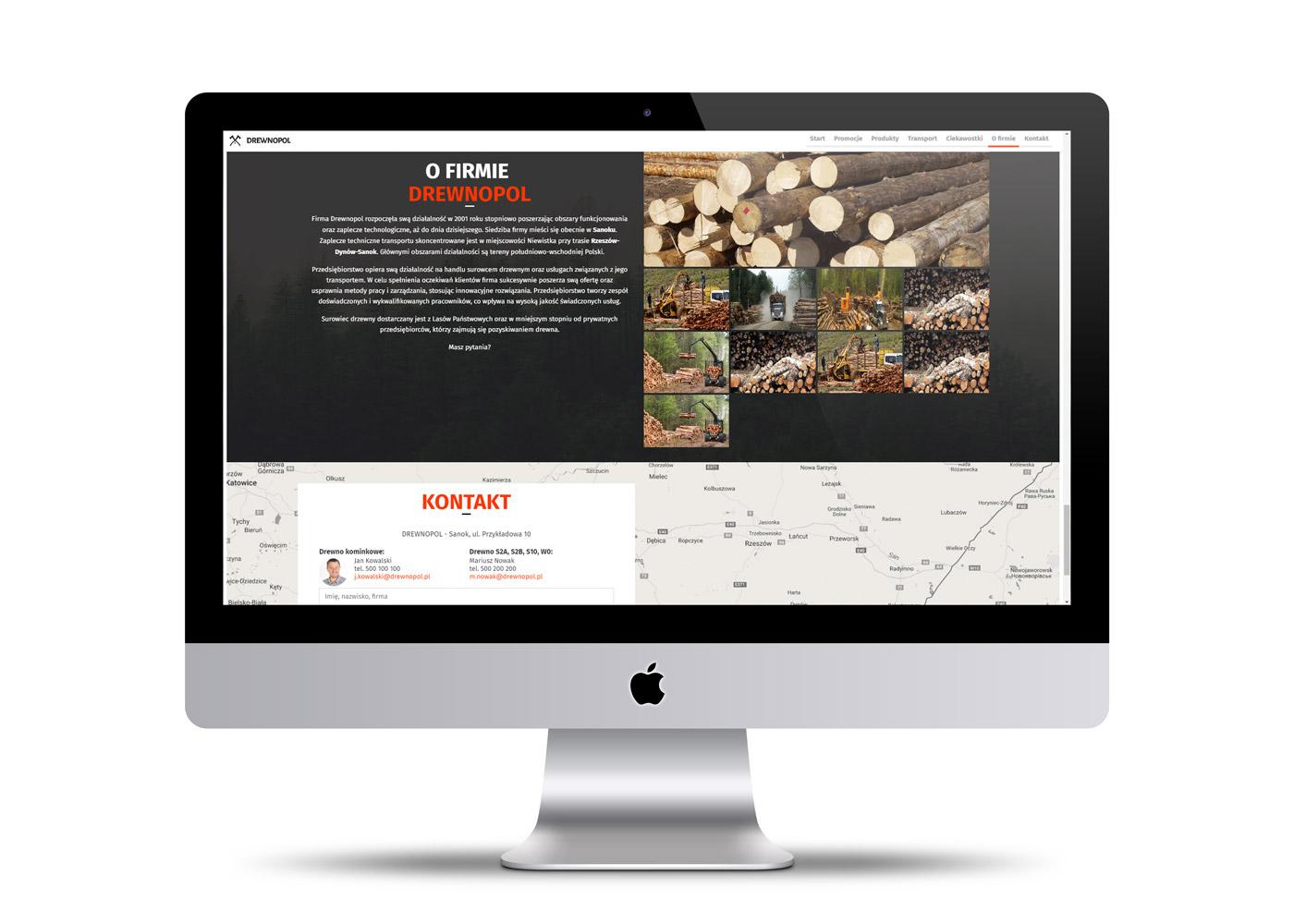 Drewnopol - strona internetowa