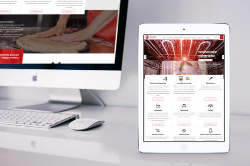 Helkra - nowoczesna responsywna strona internetowa z branży przemysłowej z przewodnim kolorem czerwonym.