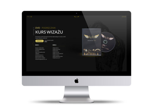 Alan Dąbrowski - strona internetowa projekt, Warszawa