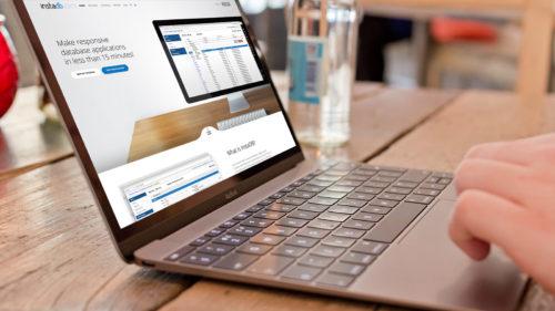 InstaDB - strona www dla firmy Atinea, producenta responsywnych aplikacji do zarządzania danymi z baz danych